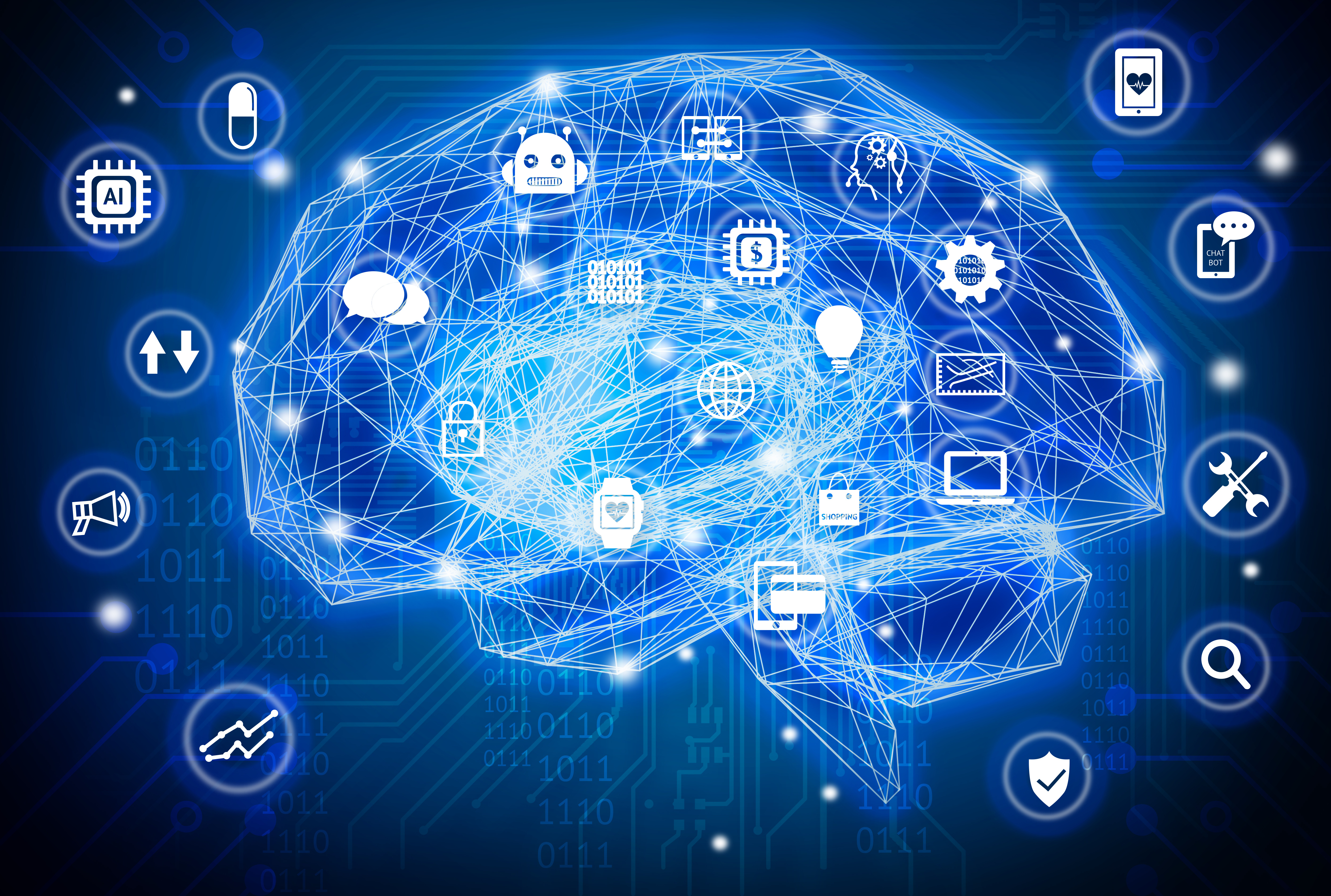 """AI """"Brain"""" learning different things"""